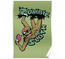 Zombie Sloth Poster