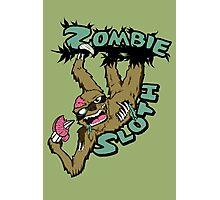 Zombie Sloth Photographic Print