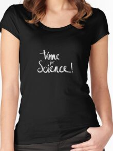 Time for Science! (black) Women's Fitted Scoop T-Shirt