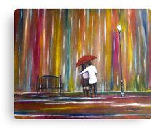 Love in the Rain Canvas Print