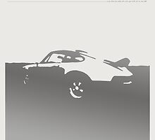 Porsche 911 Carrera - Gray on White by uncannydrive