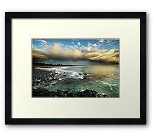 Storm over Fingle Beach Framed Print