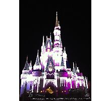 Cinderella's Castle in December Photographic Print