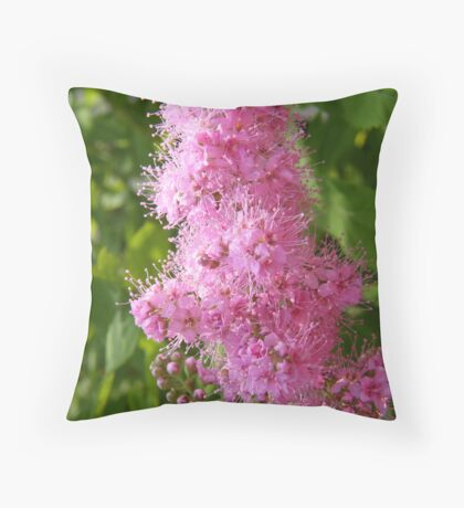 Pink Froth Throw Pillow