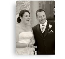 Mr and Mrs Canvas Print