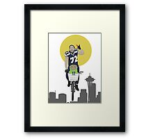 Michael Bennett Does Victory Lap With ET Framed Print