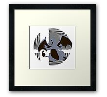 Charizard (Grey) - Sunset Shores Framed Print