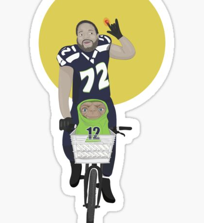 Michael Bennett Does Victory Lap With ET Sticker