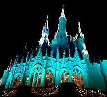 Cinderella's Castle at Christmas Time by jrhall19