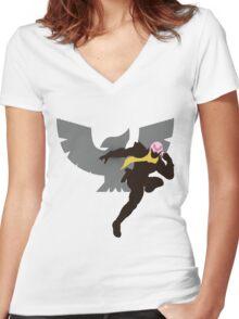 Captain Falcon (Fabulous) - Sunset Shores Women's Fitted V-Neck T-Shirt