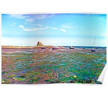 Holy Island, Low Tide Poster