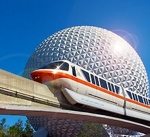 Iconic Monorail at EPCOT by jrhall19