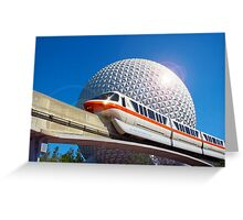 Iconic Monorail at EPCOT Greeting Card