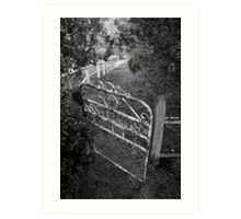 The front gate Art Print