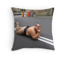 sumo steve does a yokozuna musashimaru! Throw Pillow