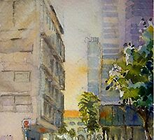 Sunlight id1340672 watercolor painting by Almondtree