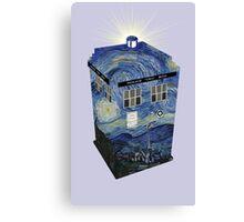 TARDIS Illustrated- Starry Night Canvas Print