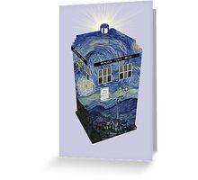 TARDIS Illustrated- Starry Night Greeting Card