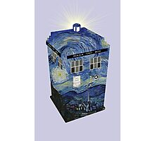 TARDIS Illustrated- Starry Night Photographic Print
