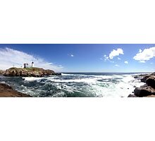 Nubble Light Panorama Photographic Print