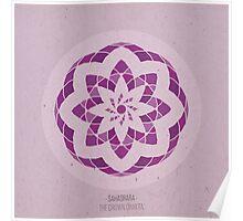 Sahasrara - The Crown Chakra Mandala Poster