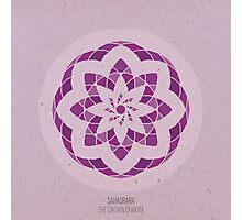 Sahasrara - The Crown Chakra Mandala Photographic Print