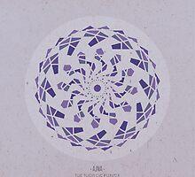 Ajna - The Third Eye Chakra Mandala by goldsoul