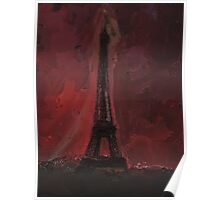 Eiffel By Red Poster