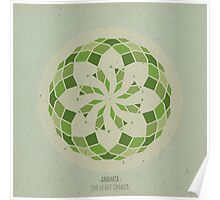 Anahata - The Heart Chakra Mandala Poster