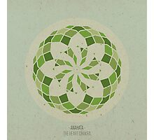 Anahata - The Heart Chakra Mandala Photographic Print