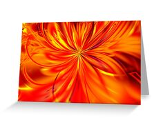 Fire Lilly Greeting Card
