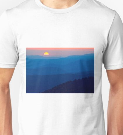 Sunset over the Great Smoky Mountains Unisex T-Shirt