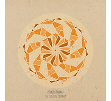 Svadisthana - The Sacral Chakra Mandala Photographic Print
