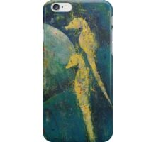 Yellow Seahorses iPhone Case/Skin