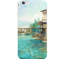 Bhutan id1060465 watercolor landscape painting iPhone Case/Skin