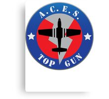 Top Gun Logo Canvas Print