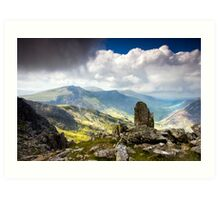 A view from Tryfan Art Print