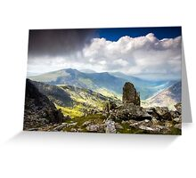 A view from Tryfan Greeting Card
