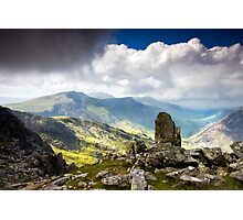 A view from Tryfan Photographic Print
