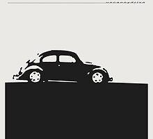 Volkswagen Beetle - Black on light by uncannydrive