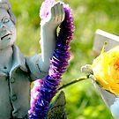 purple garland, yellow rose by kristana