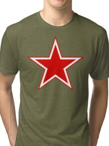 Russian Air Force Star Tri-blend T-Shirt