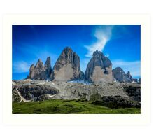 Tre Cime Part 3 Art Print