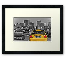 Welcome to San Diego-Yellow Cab Framed Print