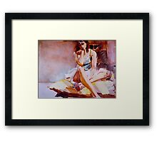 Lavinia on a Cushion Framed Print