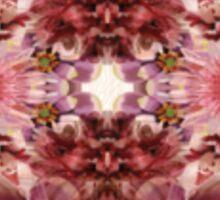 Floral Psychedelic Pocket  Sticker