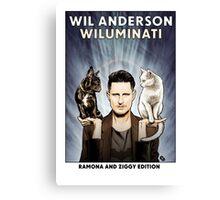 Wil Anderson WILUMINATI (Ramona and Ziggy) Canvas Print