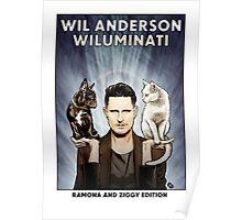 Wil Anderson WILUMINATI (Ramona and Ziggy) Poster