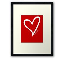 #BeARipple Original White Heart Framed Print