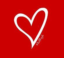#BeARipple Original White Heart by BeARipple